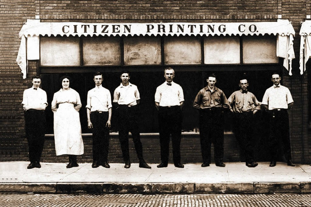 Citizen Printing, 1906